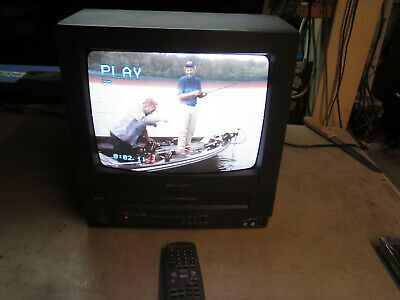 """13"""" Sharp 13VT-N100 TV VCR CRT Retro Gaming TV Television VHS,FULLY WORKING"""