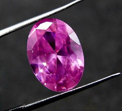 GGL Certified 8.85  Ct Oval Cut Transparent Natural Pink Sapphire Gemstone