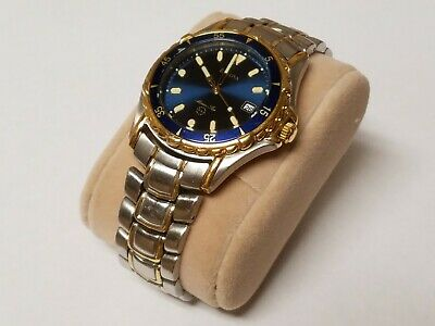 Bulova Marine Star 100m Stainless Steel Men's Watch Two Tone Blue Dial