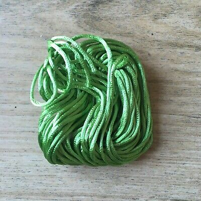 10M X 1Mm Rattail Cord - Apple Green Jewellery Making Stringing Material