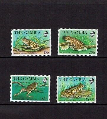 Gambia: 1982, Frogs, MNH set