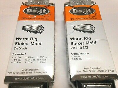 ROCK ISLAND DO-IT BANK SINKER MOLDS I REFUND EXCESS SHIPPING FEES!!!