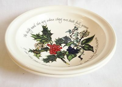 Portmeirion The Holly and The Ivy rimmed soup bowls x 2 NEW