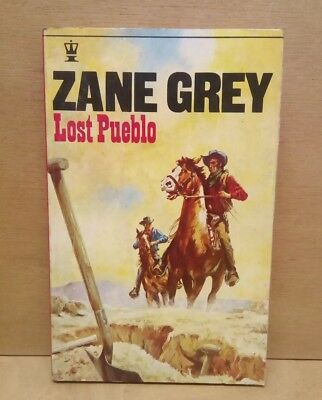 Zane Grey Lost Pueblo Cowboy Western Pulp Novel Vintage 1970 Book Old West