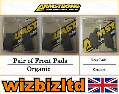 Armstrong Complete Brake Pad Kit Suzuki GSX 650 (Non ABS Model) 2008-11 BK112030