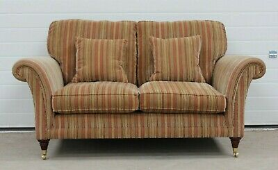 Parker Knoll Burghley 2 Seater Sofa in the Baslow Stripe Fabric
