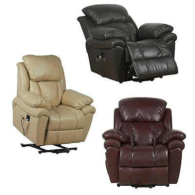 Luxor leather Dual Motor riser recliner chair electric mobility rise and recline