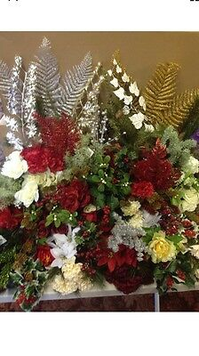 20x Artificial Flower Greenery Christmas Bunches Joblot Bush Clearance Wholesale