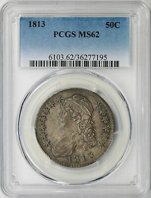1813 Capped Bust Half Dollar 50c PCGS MS62