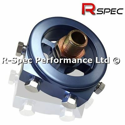 Oil Filter Sandwich Adaptor Plate - Oil Temp Pressure Gauge Sensor M18 M20 3/4