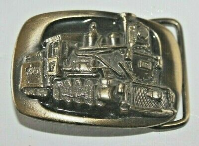 1983 MM Solid Brass Train Engine Belt Buckle Limited Edition Serial # D1320 PD