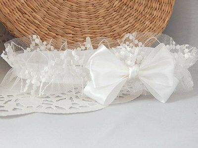 Baby bow headband satin and tulle baby hair band for baptism christening wedding