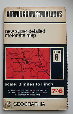 1974 Geographia super detailed motorists map 3 miles 1 inch South Wales Sheet 4
