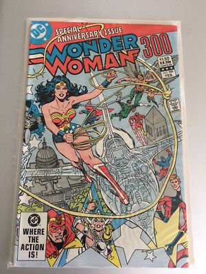 Wonder Woman #300 1983 Special Anniversary Issue Hi Grade Nm Wrap Around Cover