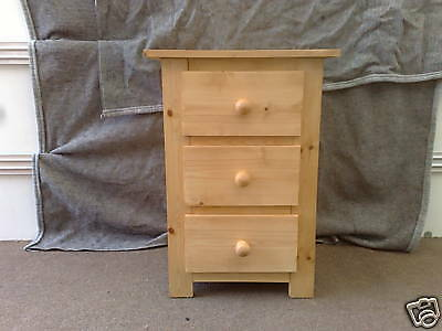 PAIR PINE FURNITURE SHAKER 2 DRAWER BEDSIDES IN GREY NO FLATPACKS X 2