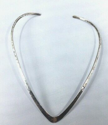 James Conley Sterling Silver Hammered Collar Necklace