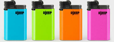 DJEEP large lighter Hot Body Neon colors 4 Pcs Made in France