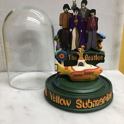 """The Beatles - Franklin Mint """"Yellow Submarine"""" Ltd. Music Dome From 1997/8."""