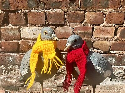 Vintage Plastic Decoy Town Pigeon With Scarf Quirky Retro 90's