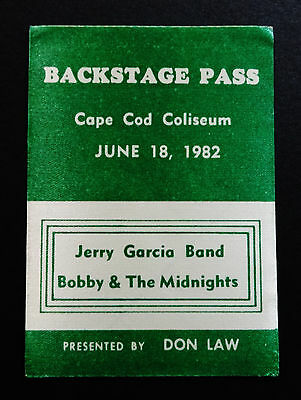 Grateful Dead Backstage Pass Jerry Garcia Bob Weir Cape Cod MA 6/18/82 6/18/1982