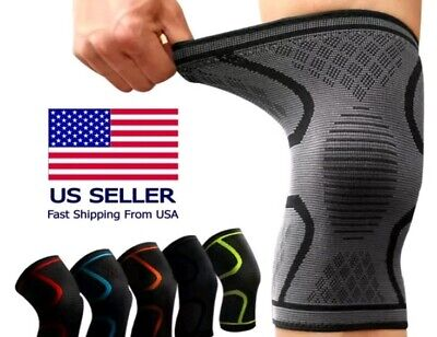 2PCS Knee Compression Brace Joint Pain Arthritis relief Support Sport Sleeve