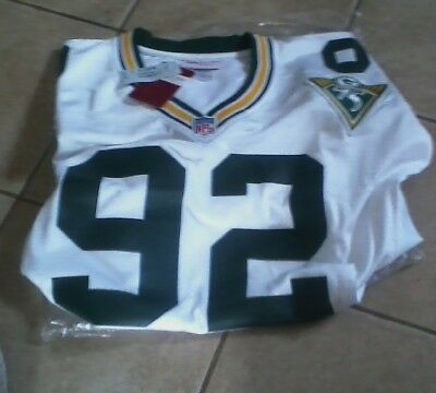 NFL 1993 Green Bay Packers Reggie White M & N 75th Anniv. Road Jersey Size 54