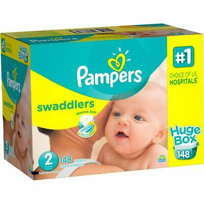 Pampers Swaddlers Disposable Diapers Size 2 (12-18lbs) *Free 2 day Ship *Baby