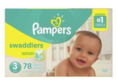 Pampers Swaddlers Disposable Diapers Size 3 (16-28lbs) *Free 2 day Ship *Baby