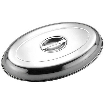 """12"""" Oval Vegetable Dish Cover Lid Catering Serving Tableware Stainless Steel"""
