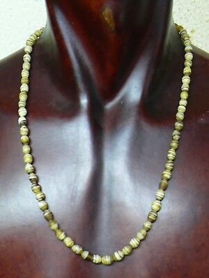 (eH010) Tibet: Old ethnic necklace with small glass beads from Nepal