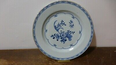 Antique chinese export porcelain plate. XVIIIth .Ancienne  Assiette Chine..M