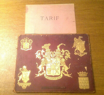 Cuirs D'art en Relief 1800s French Patent Leather Furniture Book w/ 11 Plates