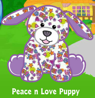 WEBKINZ PEACE N Love Puppy ( unused code tag only ) !CREDIBLE Proven Seller!