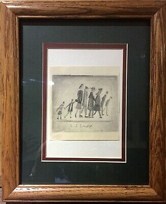 L.S. Lowry - Framed and mounted drawing with signature, not a print