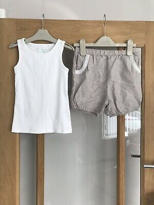 Pretty Next Girls Outfit Shorts & Vest Top Age 5 Years