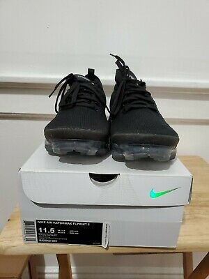 Nike Air Vapormax Flyknit 2 Black/White Men Sz 11.5 942842-001