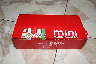 Coca Cola Mexico Mini Mundialista Aluminium little Bottles 24 Set World Cup 2018