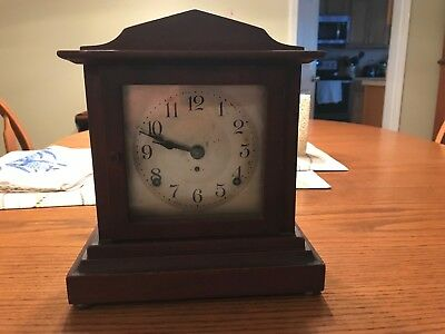 Seth Thomas Mahogany Mantle Clock #89AD