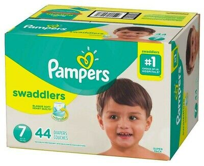 Pampers Swaddlers Disposable Diapers Size 7 (41+lbs) *Free 2 day Ship *Baby