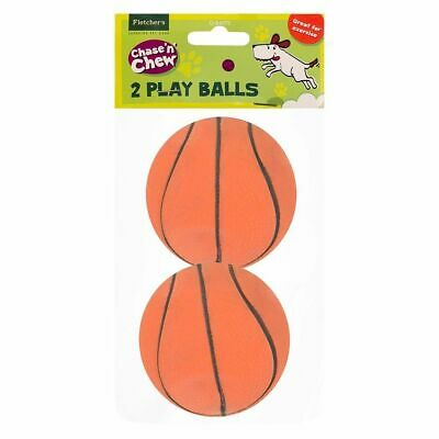 2x Basketball for Dog Playing,Durable Rubber,Bitten,Chewed, (Size:6 x 6 x 6)cm