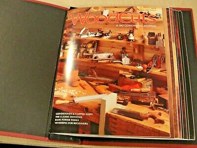 WOODCUTS: A Woodworking Journal, First 9 Issues in binder, 1991 - 1993, Magazine