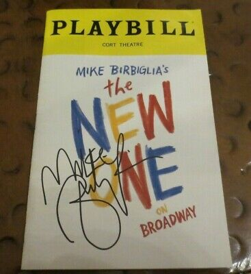 Mike Birbiglia the New One Broadway Play Playbill signed autographed comedian