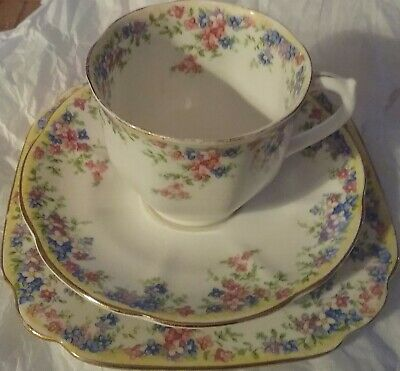 Crown China Maytime cup - saucer - side plate trio