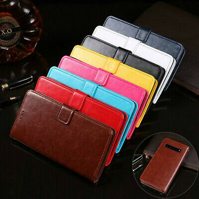 For Samsung Galaxy S10 S10 Plus Wallet Leather Case Magnetic Flip Card Cover