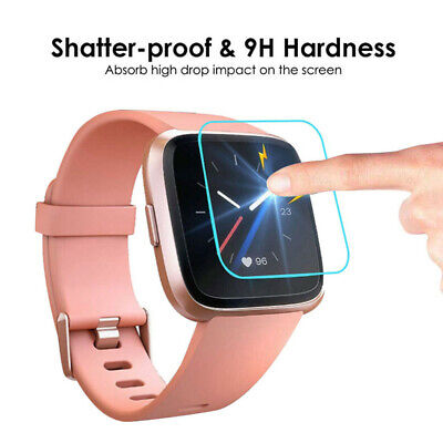 3 PACK Tempered Glass Screen Film Protector For Fitbit Versa Lite Smart Watch
