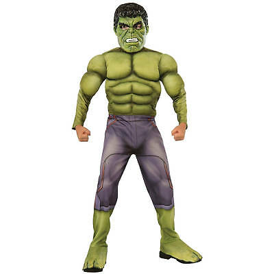Avengers Age Of Ultron Incredible HULK Deluxe Boys Costume Size L 10-12 NWT