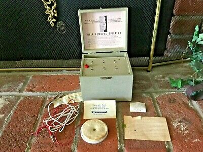 Vtg Epilator Hair Removal Mahler's Inc Built in Box 60s Beauty Crazy Quack Med