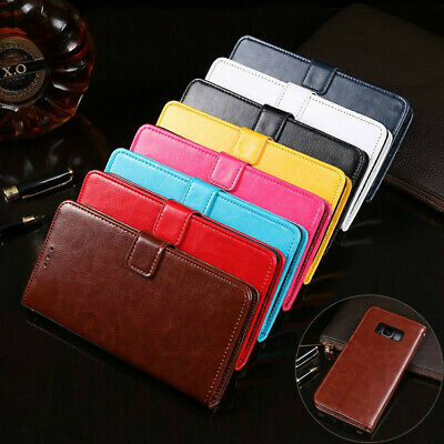 For Samsung Galaxy S9 S8 Plus S7 edge Wallet Leather Case Flip Card Cover