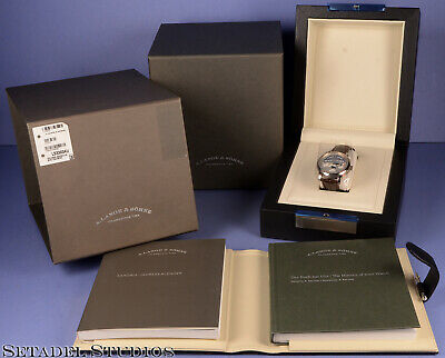 A. Lange & Sohne Saxonia Ls3303 Annual 18K White Gold Automatic Watch New! +Box