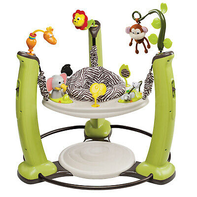 Exersaucer Evenflo Stationary Baby Jumping Activity Center Jungle Quest New